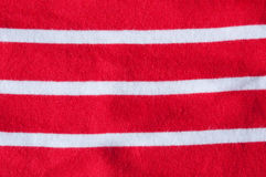 Red white stripes. Close up of red and white horizontal stripes on cotton cloth Royalty Free Stock Photo