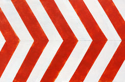Red and white stripes closeup background. Painted concrete wall Royalty Free Stock Image