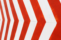 Red and white stripes closeup background. Painted concrete wall Royalty Free Stock Photo
