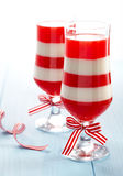Red and white stripes dessert Royalty Free Stock Photos