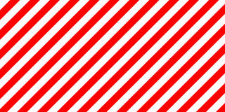 Red and white stripes diagonally sign, the size load Royalty Free Stock Photos