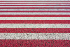 Red and white stripes fading depth of field effect texture backg Royalty Free Stock Image