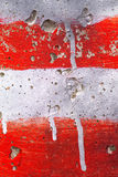 Red and white stripes painted on wall Royalty Free Stock Image
