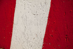 Red white stripes park stop marking abstract warning sign Royalty Free Stock Photo