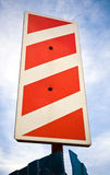 Red white stripped road sign Stock Photo