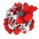 Red and white structure Stock Photography