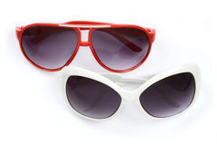 Red and white sunglasses. Royalty Free Stock Images