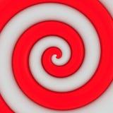 Red and white swirl Stock Photo