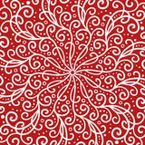 Red and white symmetrical design background with curls and swirls stock photos