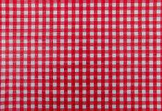Red and White table map. Red and White table cloth Stock Photos