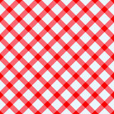 Red and white tablecloth. Red and white checked tablecloth Stock Photo