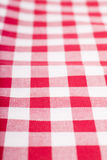 Red and white tablecloth. Checked with red and white tablecloth Stock Images