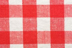 Red and white tablecloth. Closeup of red and white tablecloth Royalty Free Stock Images