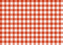 Red and white tablecloth. Red and white rectangular tablecloth Royalty Free Stock Images