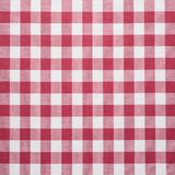 Red and white tablecloth Stock Photos