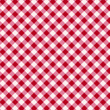 Red and white tablecloth Stock Photography
