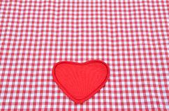 Red and white tablecloth Royalty Free Stock Photos