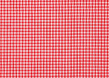 Red and white tablecloth picnic texture Royalty Free Stock Photo