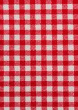Red and white tablecloth. Red and white striped tablecloth background Stock Photography