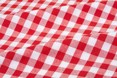 Red and white tablecloth texture background Royalty Free Stock Photography