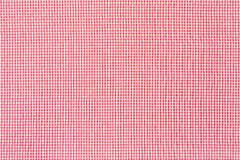 Red and white tablecloth texture background Stock Images