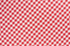 Red and white tablecloth texture background Royalty Free Stock Image