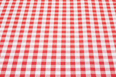 Red and white tablecloth texture background. Red and white gingham tablecloth texture background in perspective, high detailed Stock Photo