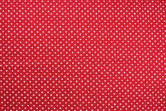 Red and white  tablecloth texture Royalty Free Stock Photo
