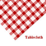 Red and white tablecloth on white vector illustration