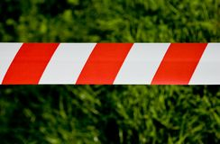 Red white tape Royalty Free Stock Photo