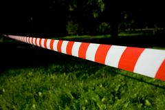 Red white tape Royalty Free Stock Photos