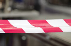 Red and white tape Royalty Free Stock Photography