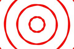 Red & White Target royalty free stock image