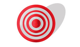 Red and White Target Stock Photo