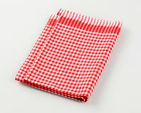 Red and white tea towel Stock Image