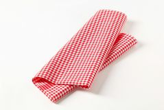 Red and white tea towel Royalty Free Stock Image