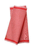 Red and white tea towel Royalty Free Stock Photography