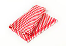 Red and white tea towel Royalty Free Stock Photos