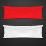 Red And White Textile Banner Set Royalty Free Stock Photography