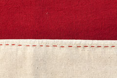 Red and white Thai fabric texture Royalty Free Stock Image