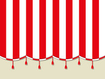 Red white theater circus curtain Royalty Free Stock Photos