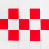 Red and white tiles Royalty Free Stock Photo