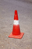 Red and white traffic cone Royalty Free Stock Image