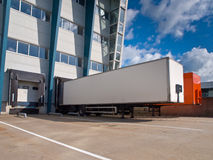 Distribution Center with Trailers Export concept Stock Images