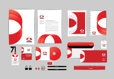 Red and white with triangle corporate identity template for your business C Stock Images