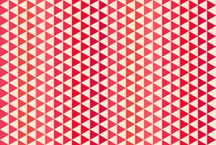 Red and white triangle pattern. Seamless vector background. Red and white triangle seamless vector ornament Stock Image