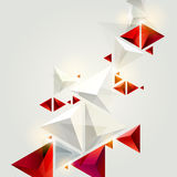 Red and white triangles Royalty Free Stock Photos