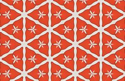 Red White Triangles Abstract Large Pattern Design stock illustration