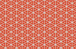 Red White Triangles Abstract Pattern Design royalty free illustration