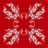 Red and white tribal design Royalty Free Stock Photos
